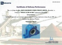Certificate Of Delivery Performance