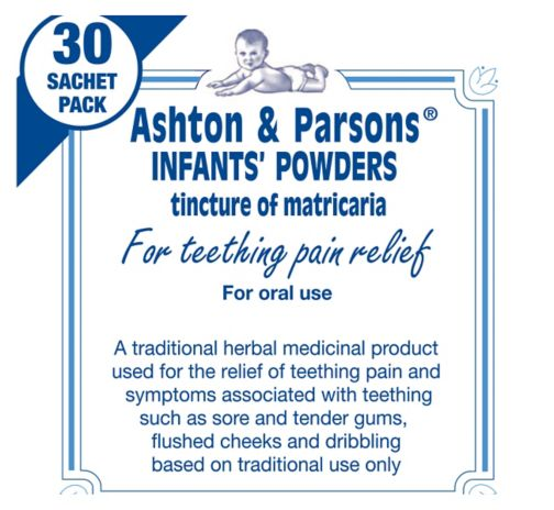 6 X Ashton /& Parsons Infants Powders Teething pain Relief Powder 10 sachet Pack