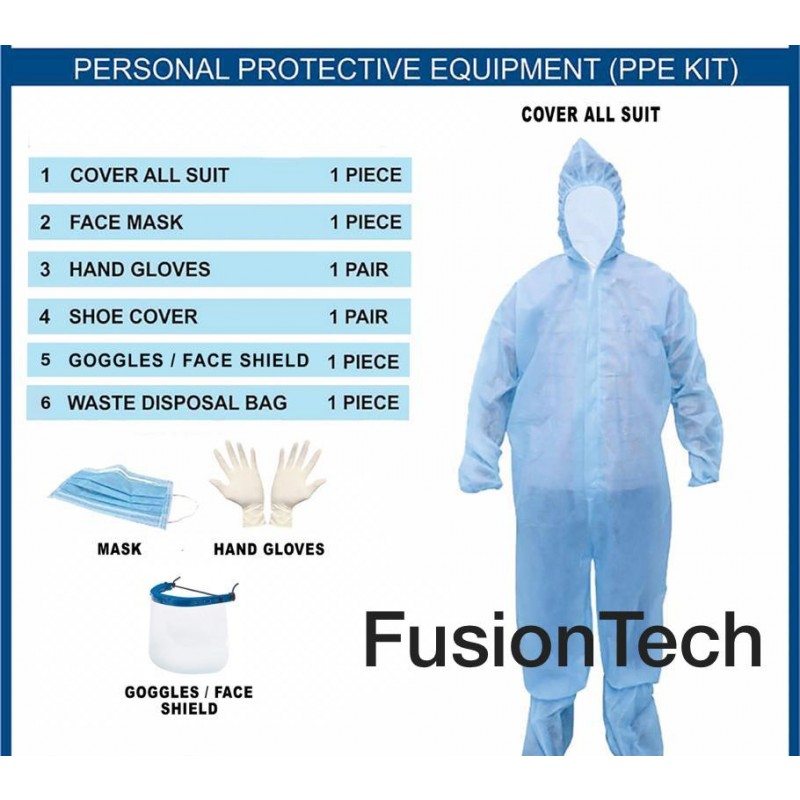 Disposable Gown In PPE Kit