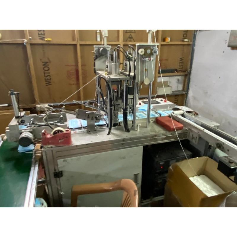 duel elastic looping automatic mask making machine