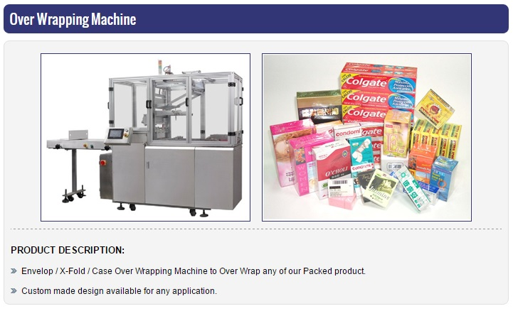 Hygiene Product Box Packed Over Wrapping Machine