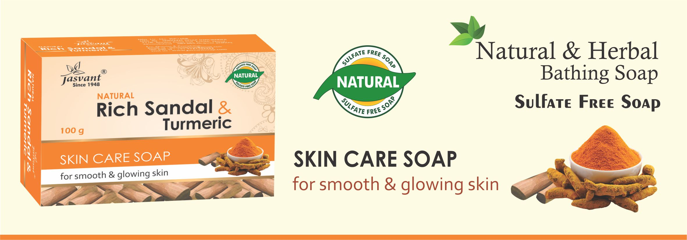 Rich Sandal & Turmeric Skin Care Soap