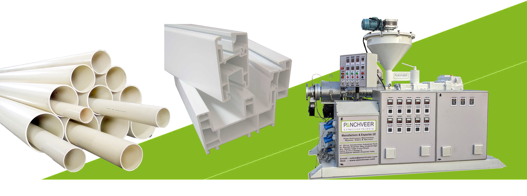 PVC Pipe Extrusion Plant For PVC Pipe & PVC Profile