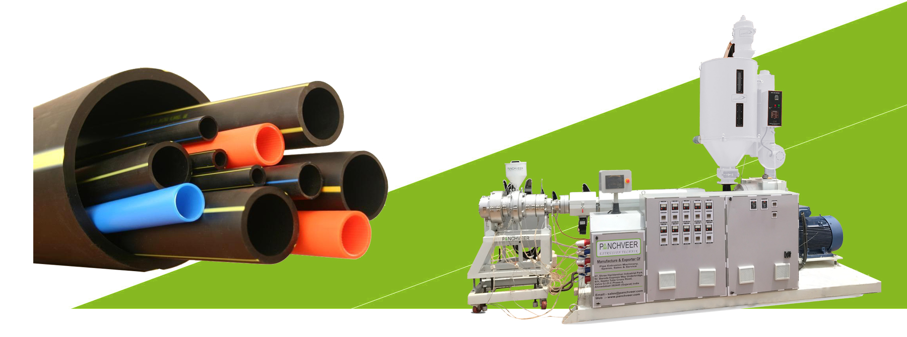 HDPE Pipe Extruder Plant For HDPE & PP Pipe Extruder